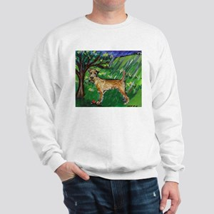 Irish Terrier spring whimsica Sweatshirt