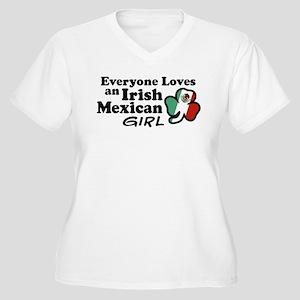 Irish Mexican Girl Women's Plus Size V-Neck T-Shir