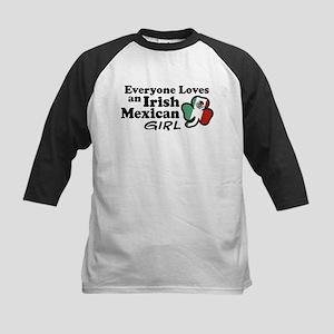 Irish Mexican Girl Kids Baseball Jersey