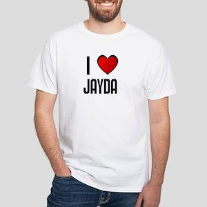 I LOVE JAYDA White T-Shirt