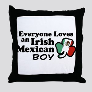 Irish Mexican Boy Throw Pillow