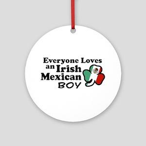 Irish Mexican Boy Ornament (Round)
