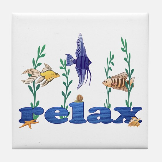 Relax Tropical Fish Tile Coaster