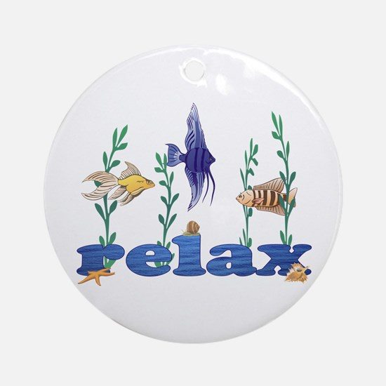 Relax Tropical Fish Ornament (Round)