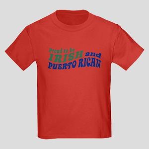 Proud Irish Puerto Rican Kids Dark T-Shirt
