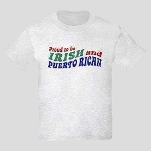 Proud Irish Puerto Rican Kids Light T-Shirt