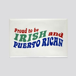 Proud Irish Puerto Rican Rectangle Magnet