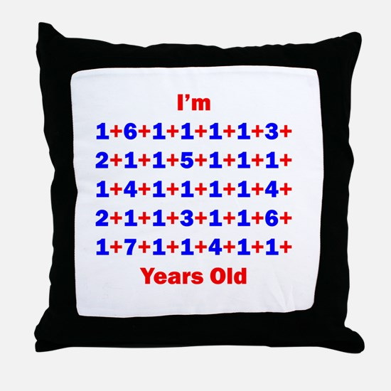 Plus Birthdays 70 Throw Pillow