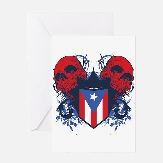 Puerto Rico Skulls Greeting Card