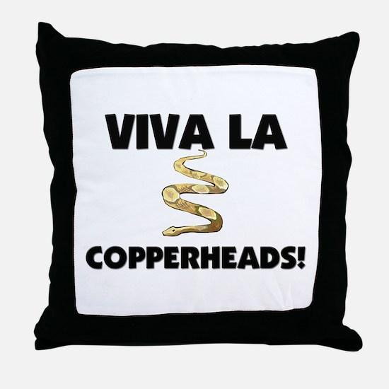 Viva La Copperheads Throw Pillow