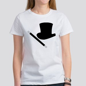Magic Top Hat and Wand Women's T-Shirt