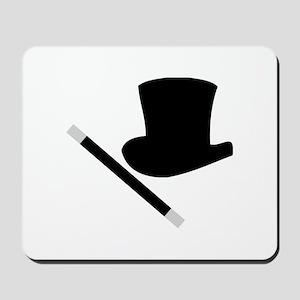 Magic Top Hat and Wand Mousepad