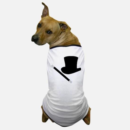Magic Top Hat and Wand Dog T-Shirt