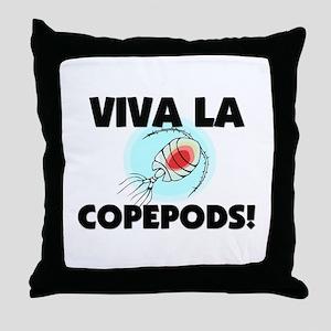 Viva La Copepods Throw Pillow