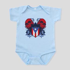 Puerto Rico Skulls Infant Bodysuit