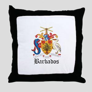 Barbadian Coat of Arms Seal Throw Pillow
