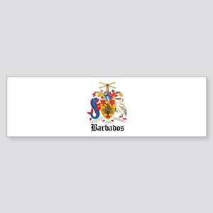 Barbadian Coat of Arms Seal Bumper Sticker
