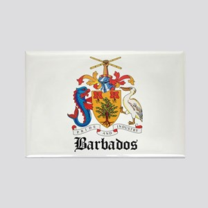 Barbadian Coat of Arms Seal Rectangle Magnet