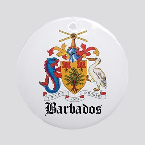 Barbadian Coat of Arms Seal Ornament (Round)