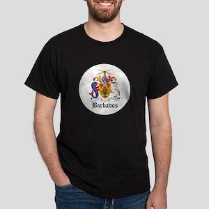 Barbadian Coat of Arms Seal Dark T-Shirt
