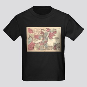 Vintage Map of Boston Massachusetts (1871) T-Shirt