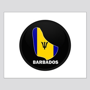Flag Map of Barbados Small Poster