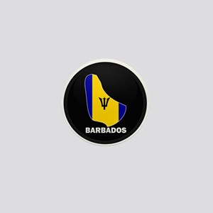Flag Map of Barbados Mini Button