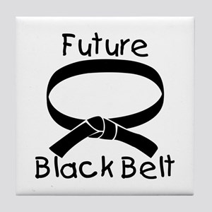 Future Black Belt Tile Coaster