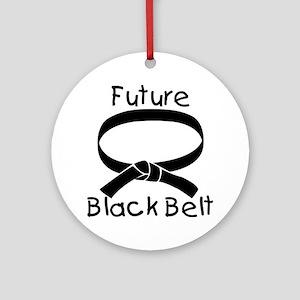 Future Black Belt Round Ornament