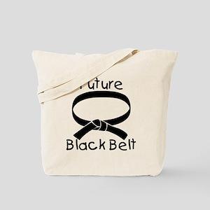 Future Black Belt Tote Bag