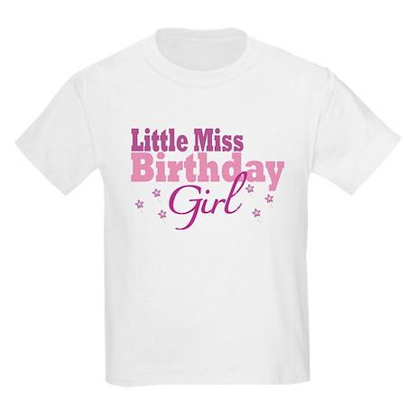 Little Miss Birthday Girl Kids Light T-Shirt