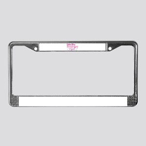 Little Miss Birthday Girl License Plate Frame