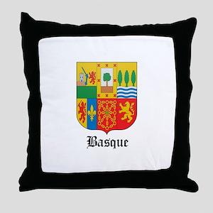 Basquan Coat of Arms Seal Throw Pillow