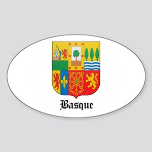 Basquan Coat of Arms Seal Oval Sticker