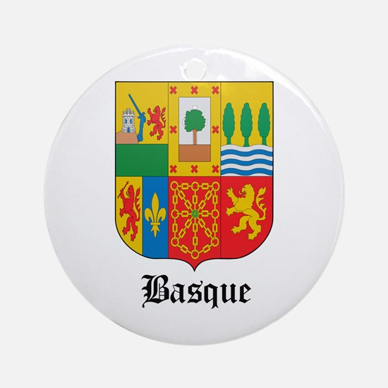 Basquan Coat of Arms Seal Ornament (Round)