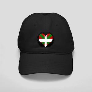 I love Basque Flag Black Cap