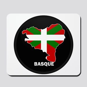 Flag Map of Basque Mousepad