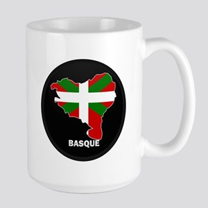 Flag Map of Basque Large Mug