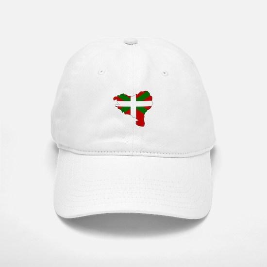 Basque Flag Map Baseball Baseball Cap