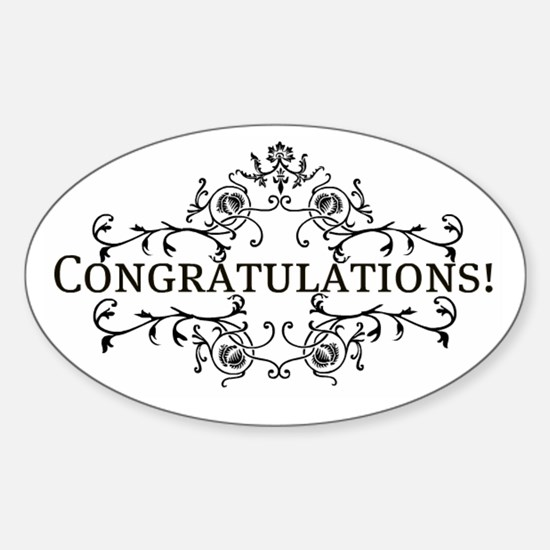"""""""Congratulations"""" Oval Decal"""