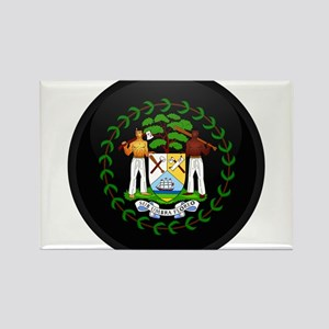 Coat of Arms of Belize Rectangle Magnet