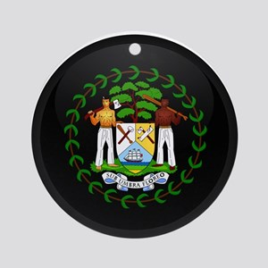 Coat of Arms of Belize Ornament (Round)