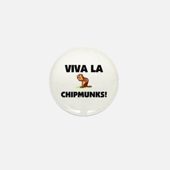 Viva La Chipmunks Mini Button