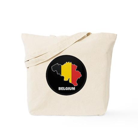 Flag Map of Belgium Tote Bag