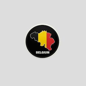 Flag Map of Belgium Mini Button