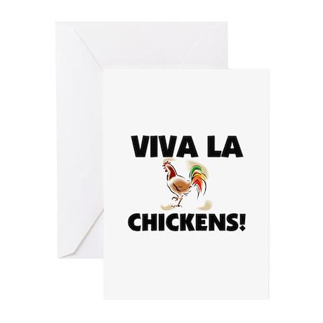 Viva La Chickens Greeting Cards (Pk of 10)