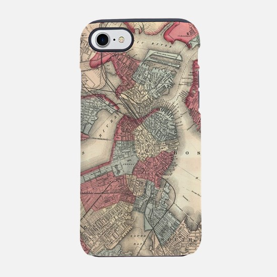 Vintage Map of Boston Massachu iPhone 7 Tough Case