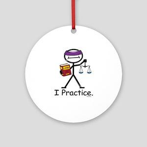 Attorney Practice Ornament (Round)