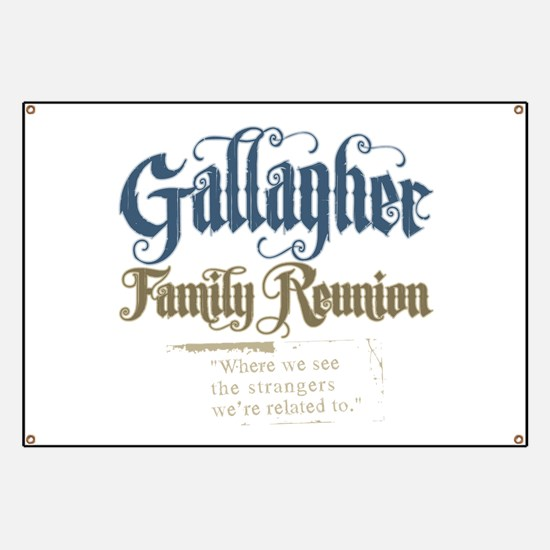 Gallagher Personalized Family Reunion Banner