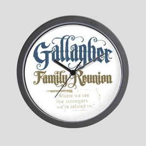 Gallagher Personalized Family Reunion Wall Clock
